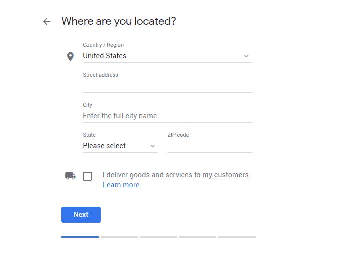 Google My Business Step 2
