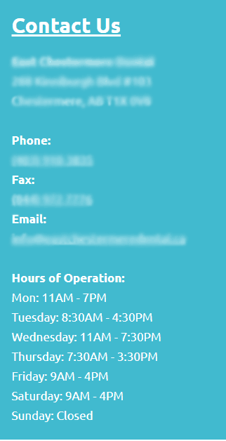 office hours for a dental practice