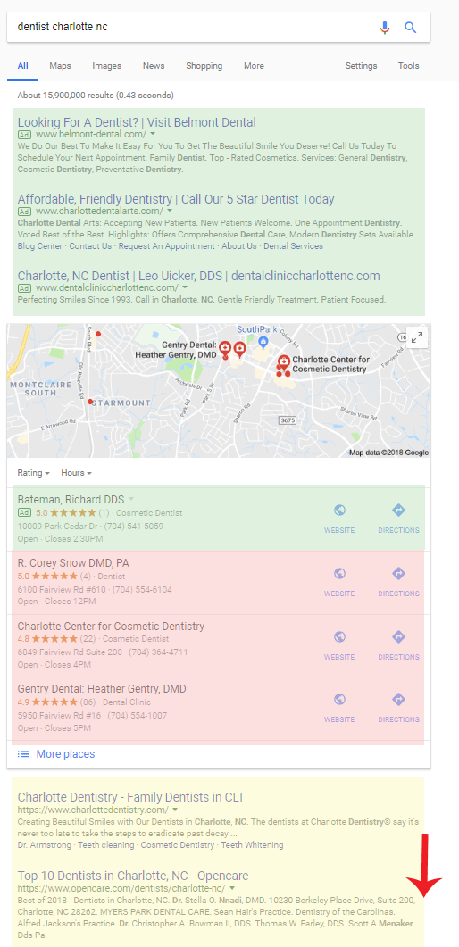 Local search for dentist